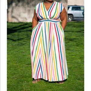 Eshakti faux wrap dress
